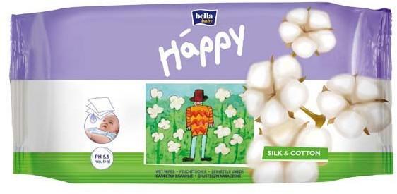 Bella baby Happy Feuchttücher Silk & Cotton 64 Stück