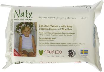 Naty Eco Feuchttücher Sensitive mit Aloe Vera, 56 Stück
