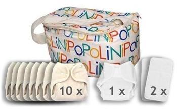 Popolini XXL ErstausstattungOneSize Soft Set + OneSize Rainbow Soft Set plus Vliesrolle plus Windelsack