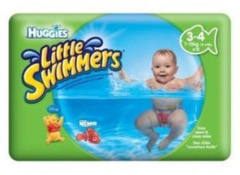Huggies Kleinen Schwimmer Größe 3-4 (7 Kg-15 Kg) - 12 Hosen - Packung mit 2