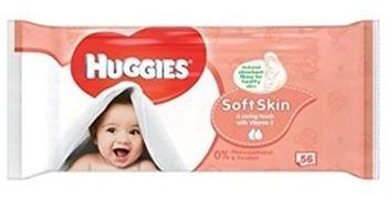 Huggies Baby-Feuchttücher Weiche Haut Singles 56 - Packung mit 2