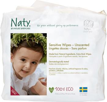 Naty Eco Feuchttücher Sensitive unparfümiert (3 x 56 Stück)