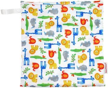 ImseVimse Wet Bag with zipper Zoo 28x26 cm (60122)