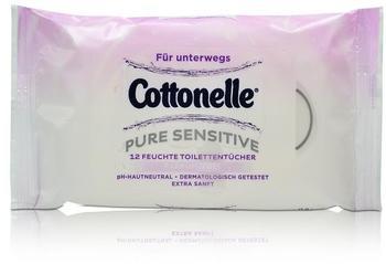 Cottonelle Feuchte Toilettentücher Pure Sensitive 12 Stück