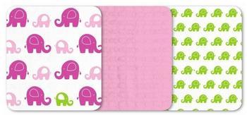 Odenwälder BabyNest Mullwindeln Classic (80 x 80cm) 3er Set Funny Fant Pink