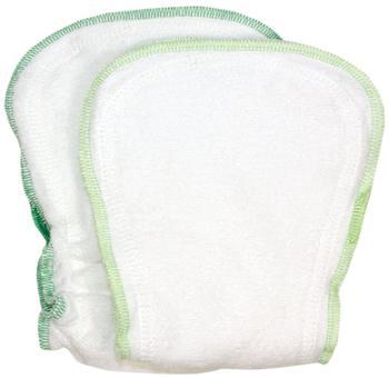 ImseVimse Windeleinlagen weiß/grün 14 x 28 cm 2 Stück