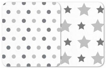 Odenwälder BabyNest Sterne Tupfen silber (120 x 120 cm)