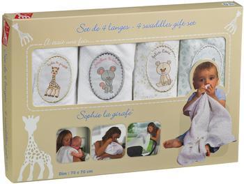 Vulli Sophie the Giraffe Muslins (4 Pack)