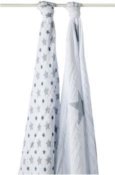 aden + anais Mulltücher Twinkle grey Star 120 x 120 cm 2 Stück