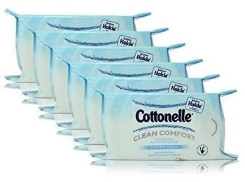 Cottonelle 6x Hakle Cottonelle feuchte Toilettentücher Cotton Fresh 42 Tücher, Nachfüller