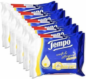 Tempo 5x Tempo Feuchte Toilettentücher sanft & pflegend Duo-Nachfüllpackung, mit Kamille 2x42er