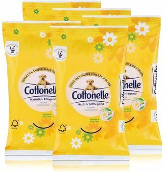 Cottonelle 5x Cottonelle feuchte Toilettentücher Kamille & Aloe Vera 12 Tücher für unterwegs
