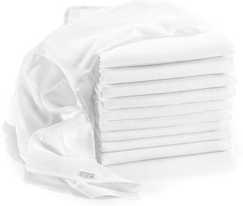 Makian Mullwindeln (80 x 80 cm) 10er Pack weiß