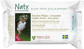 Naty Babycare Feuchttücher Sensitive unparfümiert Travel Pack 20 Stück