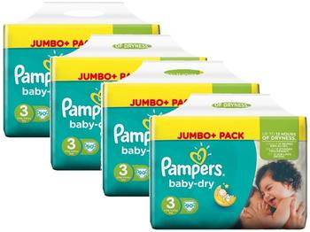 Pampers Baby-Dry 4-9 kg 4 x 90 Stück