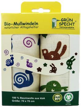 Grünspecht Bio-Mullwindeln (70x70 cm) 2er Pack