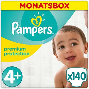 Pampers Premium Protection Size 4+ (9-18 kg) 140 Pack