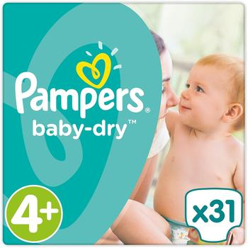 Pampers Baby-Dry 4+ Maxi Plus 10-15kg 31St.