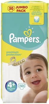 Pampers Premium Protection Size 4+ (9-18 kg) 50 Pack