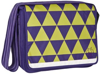 Lässig Casual Messenger Bag Triangle dark purple