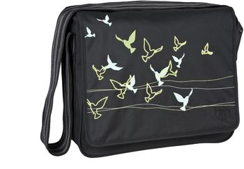 Lässig Messenger Bag Birds black