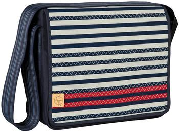 Lässig Casual Messenger Bag Striped Zigzag
