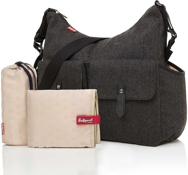 Babymel Wickeltasche BM 7966 Frankie Tweed Grey -
