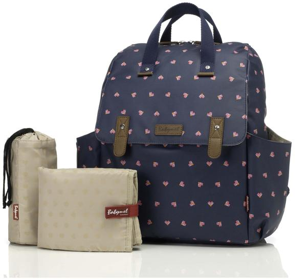 Babymel Robyn Convertible Backpack Navy Origami Heart