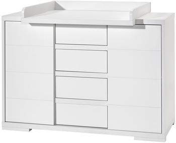 Schardt Wickelkommode Maxx white inkl. Wickelaufsatz