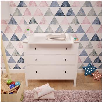 Polini Kids Wickelaufsatz für Kommode Hemnes IKEA weiß