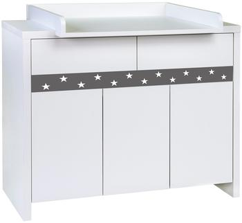 Schardt Wickelkommode Planet Star 102/wh 94,5x166x53/70 cm