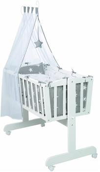 Roba Little Stars Komplettwiegenset (little Stars) weiß