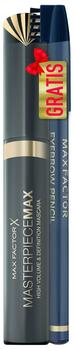 Max Factor Masterpiece Max Mascara plus Gratis Eyebrow Pencil Hazel, 1er Pack (1 x 7 ml)