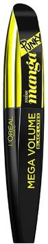 LOréal Paris Mega Volume Miss Manga Punky Black Latex Mascara, Black