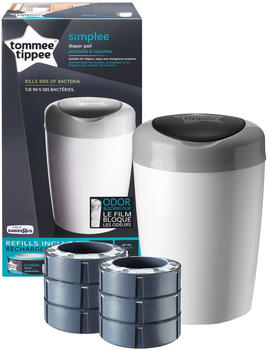 Tommee Tippee Starter pack Simplee Sangenic + 6 refill cassettes