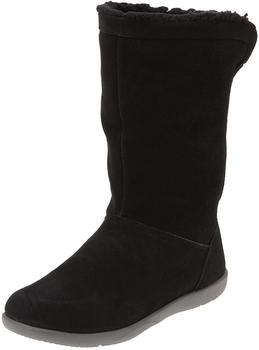 Crocs Adela Foldover Fuzz Bootie Women's black/ charcoal
