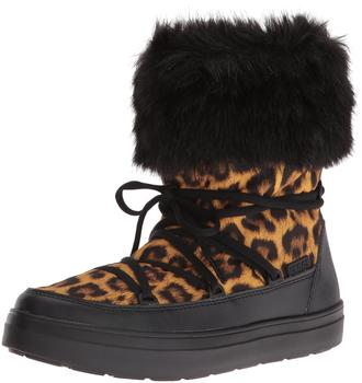Crocs Women's LodgePoint Lace Boot leopard/black