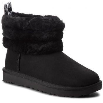 UGG Fluff Mini Quilted Logo Boot black