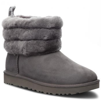 UGG Fluff Mini Quilted Logo Boot charcoal
