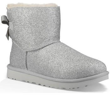 UGG Mini Bailey Bow Sparkle Boot silver