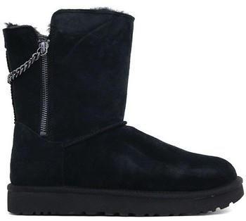 UGG Classic Short Sparkle Zip Boot black