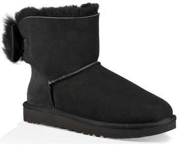 UGG Classic Mini Fluff Bow Boot black