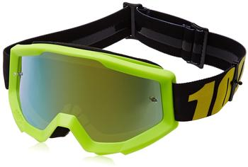 100% STRATA Goggle neon yellow/mirror gold