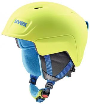 Uvex Manic Pro lime/blue met mat