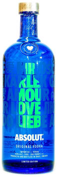 Absolut LOVE limited Edition grün 0,7l 40%