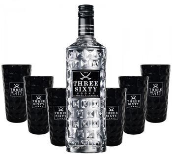 Three Sixty 37,5% 3L + 6 Longdrink-Gläser