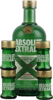 Absolut Extrakt 0,7 Liter 35 % Vol. mit 4 Shot Gläsern