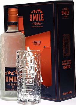 Granite Rock Distillery 9 Mile Vodka 37,5% 0,7l + Highball-Glas