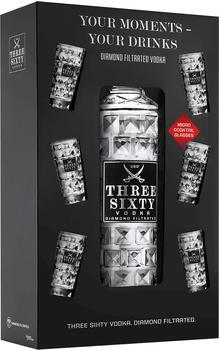 Three Sixty 37,5% 3l + 6 Shotgläser