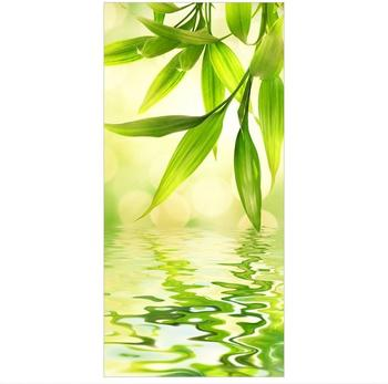 Apalis Raumteiler inkl. transparenter Halterung Green Ambiance I grün